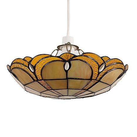 Estilo Tiffany lámpara de techo de cristal – lámpara de diseño