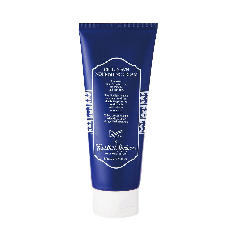 Earth's Recipe Cell Down Nourishing Cream - Cellulite/Body Cream with Magnolia Bark Extract, 200ml by Earth's Recipe