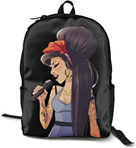 Amy Winehouse Backpack Casual Backpack Campus School Bag Laptop Bag Unisex Bookbag