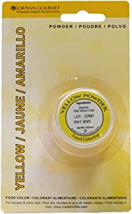 LorAnn Yellow Powder Food Color 1/2 ounce jar - Blistered