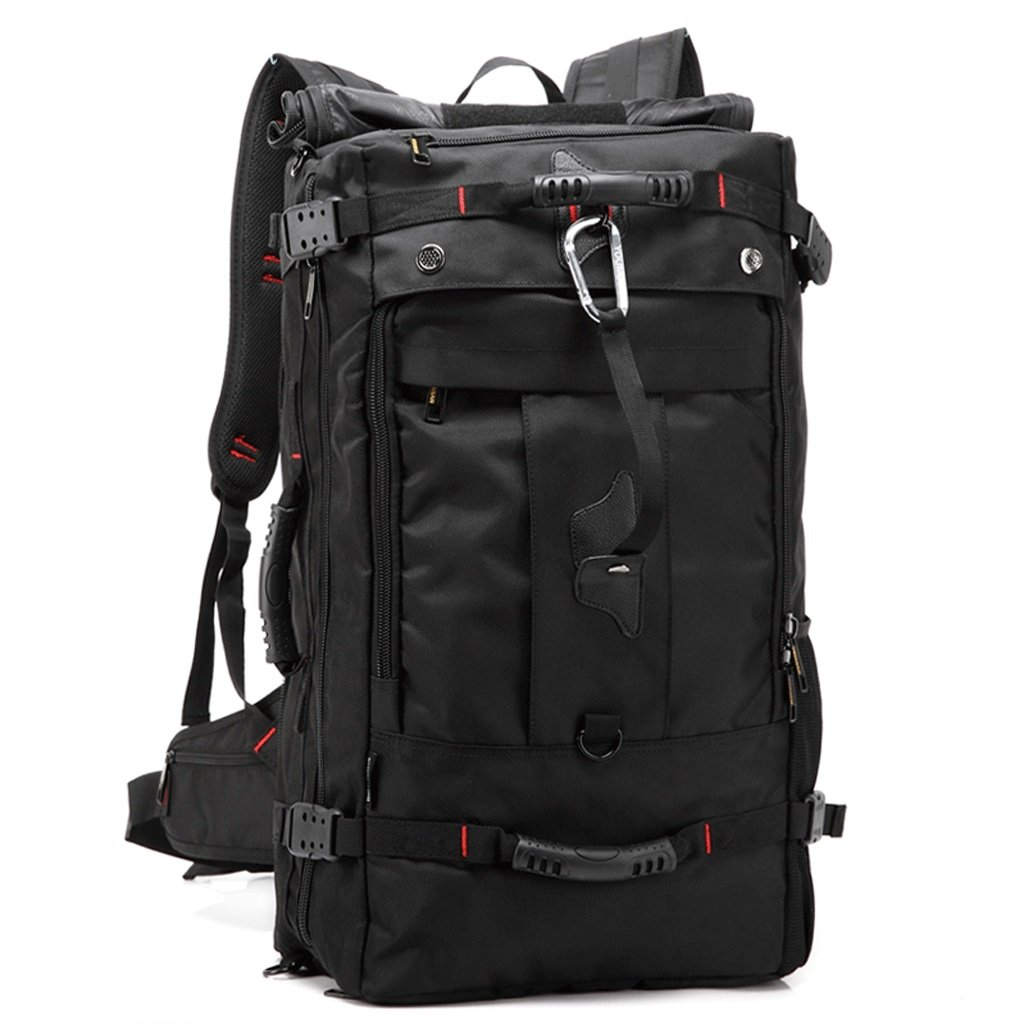 HM3287 Reisen Bergsteigen Tasche, multifunktionale Outdoor-Fitness-Camping-Rucksack, Super-Capacity-Laptop-Rucksack, Unisex-Wanderrucksack, schwarz
