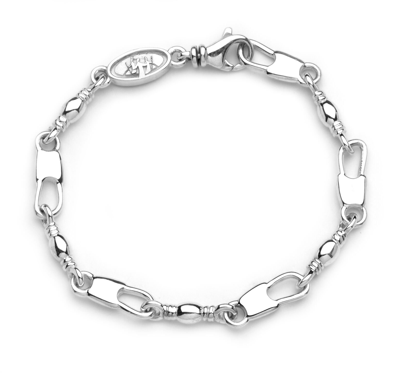 Denali Designs Walk of Emmaus Fisher of Men Bracelet (Large- 8.75'')