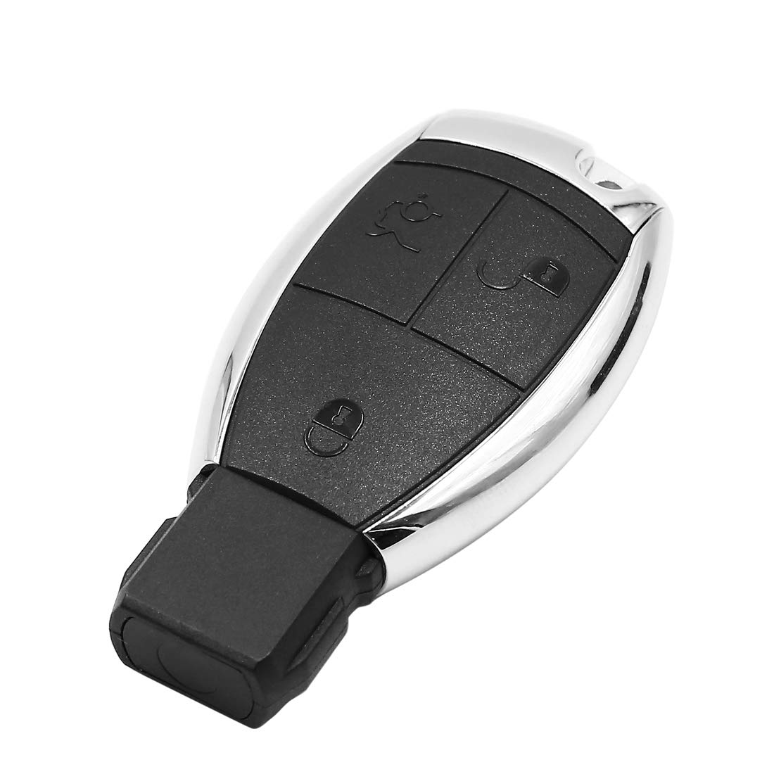 uxcell 3 Button Car Remote Key Fob Case Shell with Uncut Key Blade for Mercedes Benz
