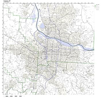 Amazon.com: Portland, OR ZIP Code Map Laminated: Home & Kitchen