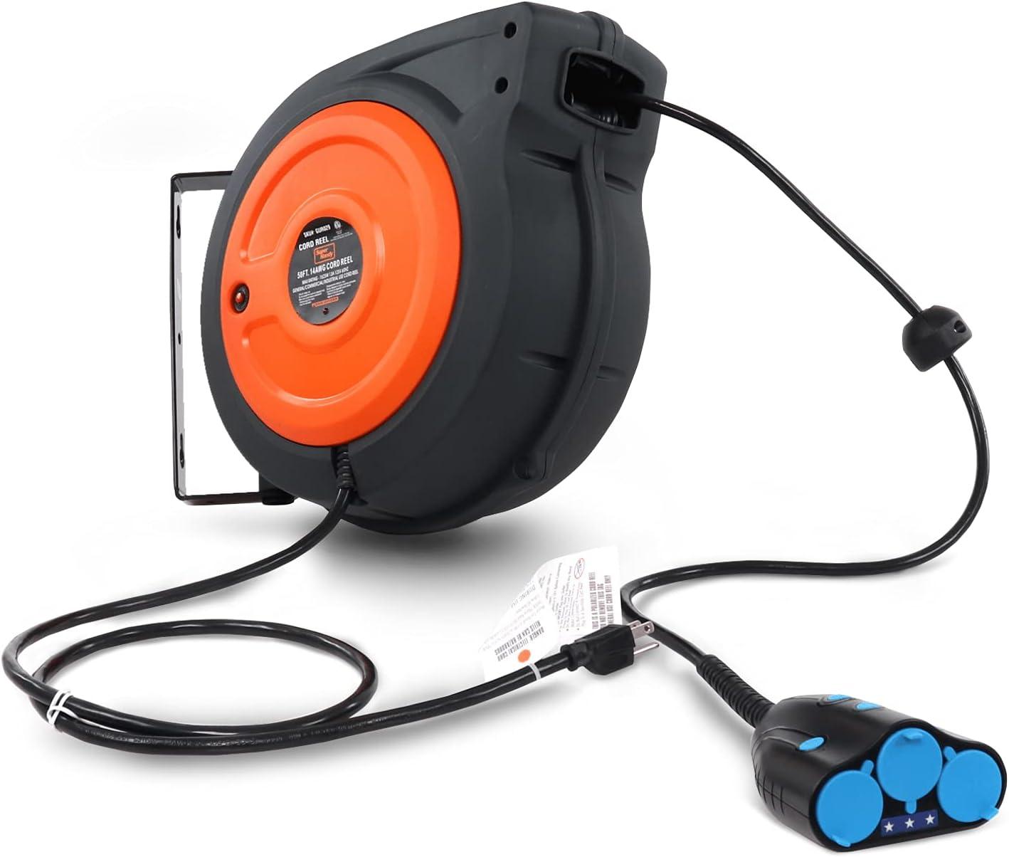 """395 mm 15.5/"""" câble Tidy dévidoir de fil lumières de Noël Extension Lead Winder"""