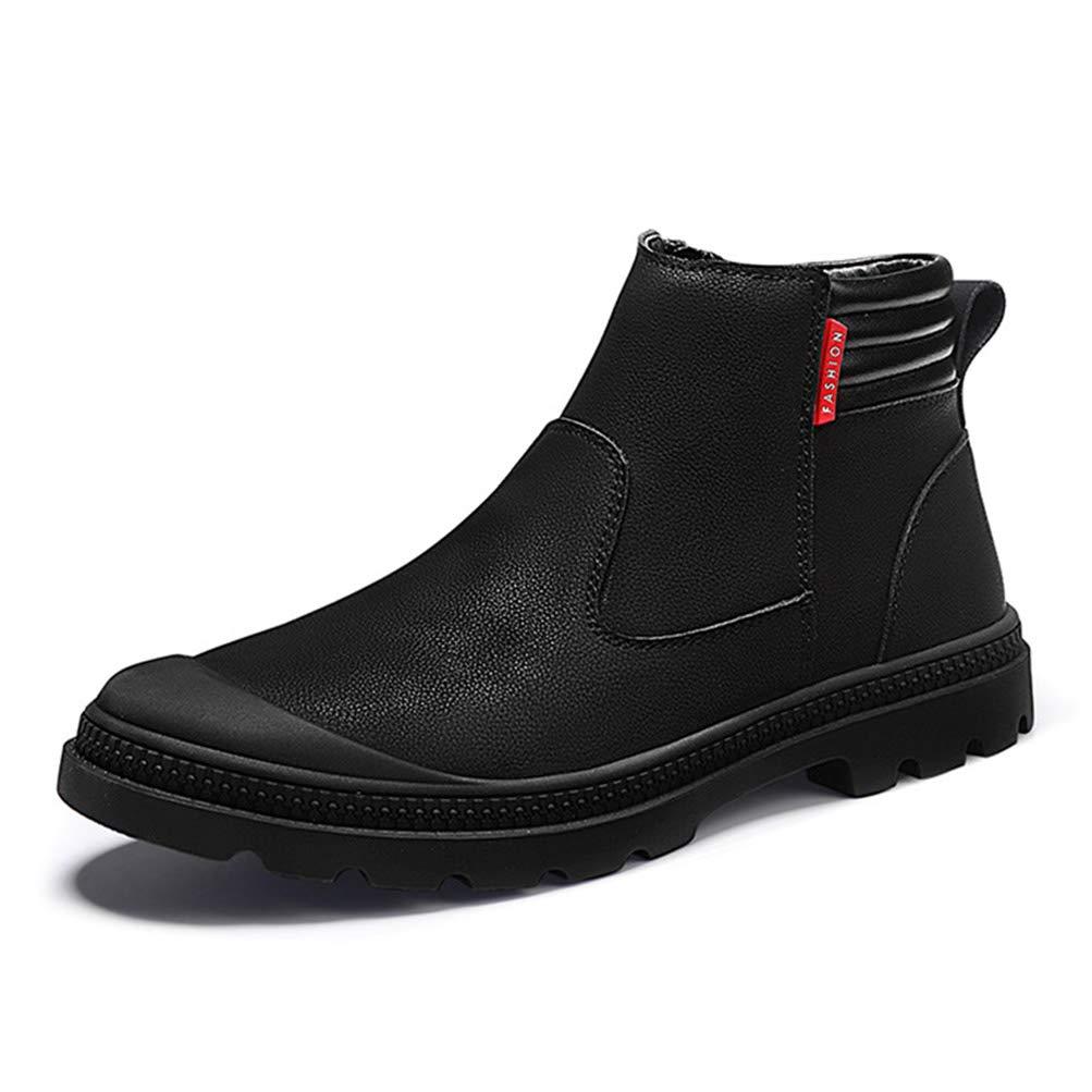Herren High Top Lederschuhe England Style Fashion Set Schuhe Männer Rutschfeste Schnee Plus Samt warme Martin Stiefel