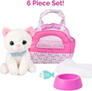 """Adora Amazing Pets """"Luna the White Kitty"""" – 18"""" Doll Accessory includes 4.5"""