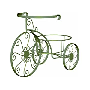 Panacea Products 89185 Whimsical Tricycle Plant Stand, Antique Willow Finish