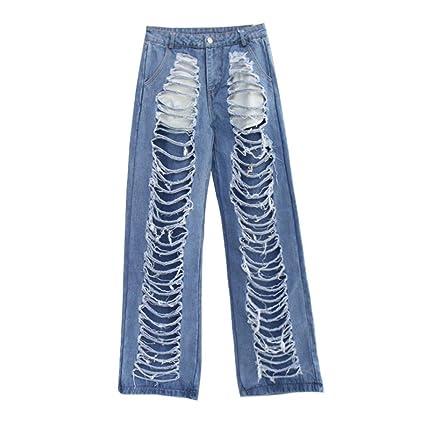 RXF Casual Jeans Pantalones Europeos y Americanos de Mujer ...