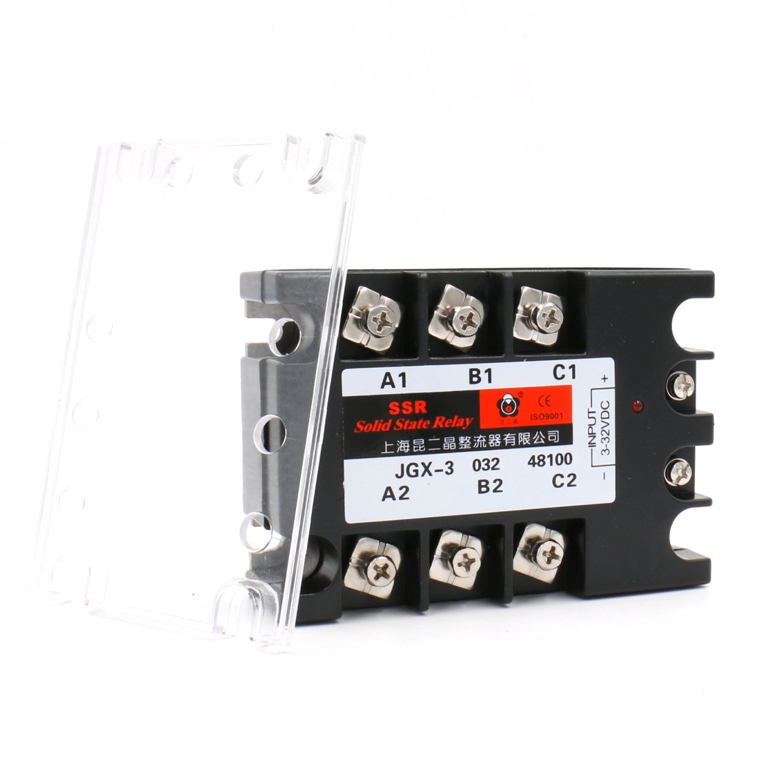 Baomain 3 Phase Solid State Relay JGX-48100A 3-32 VDC Input 480VAC 100 Amp Output DC/AC by Baomain