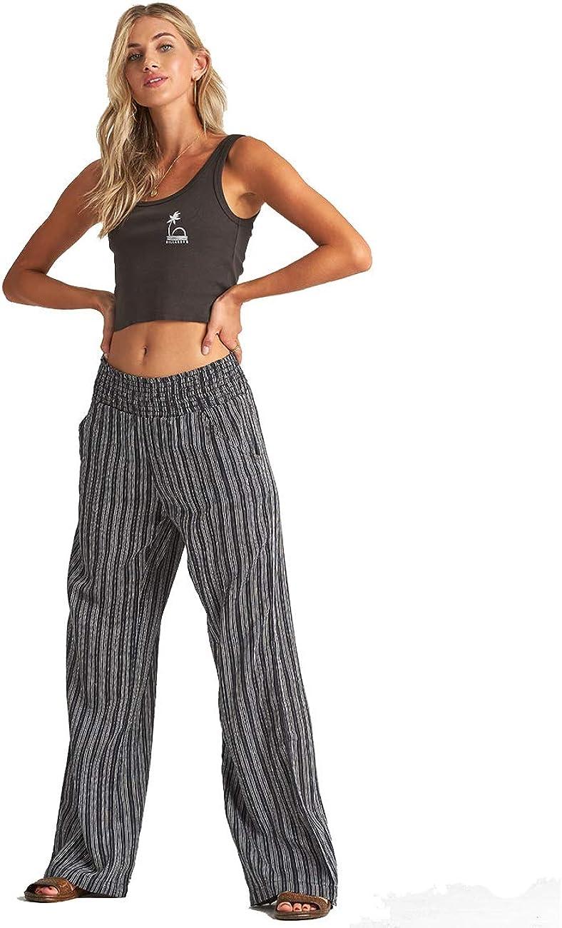 Billabong Womens New Waves Stripe Pant Black Small