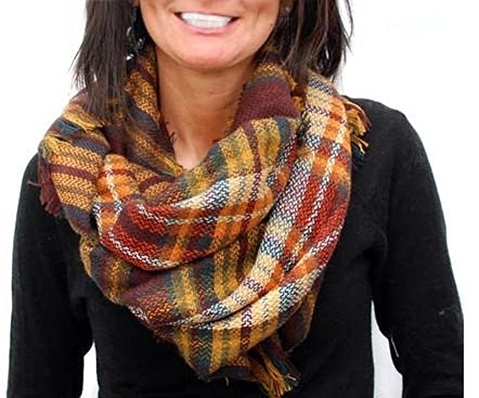 Plaid Infinity Blanket Scarf by Endless Envy (Autumn Plaid) at ... 381111c98