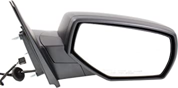 Mirror for Silverado//Sierra 1500 14-17//2500 HD//3500 HD 15-17 Right Side Power Manual Folding Heated W//Blind Spot Glass All Cab Types Textured Black
