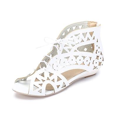 Fermeture Ochenta Femme Eclair Cheville Chaussure Ete Petit Laniere Talon Sandales 6y7gbf