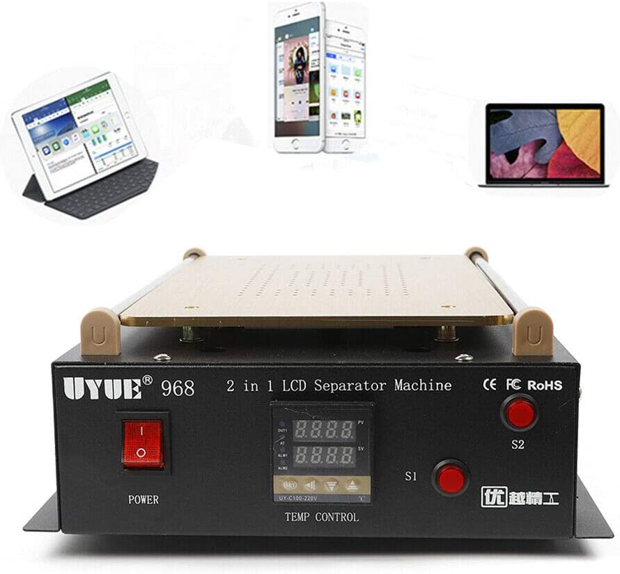 "14"" LCD Screen Separator Machine Tablet Cellphone Glass Separating Repair Tool Heating Plate Touch Screen Separating Machine LCD Built-in Vacuum Machine"