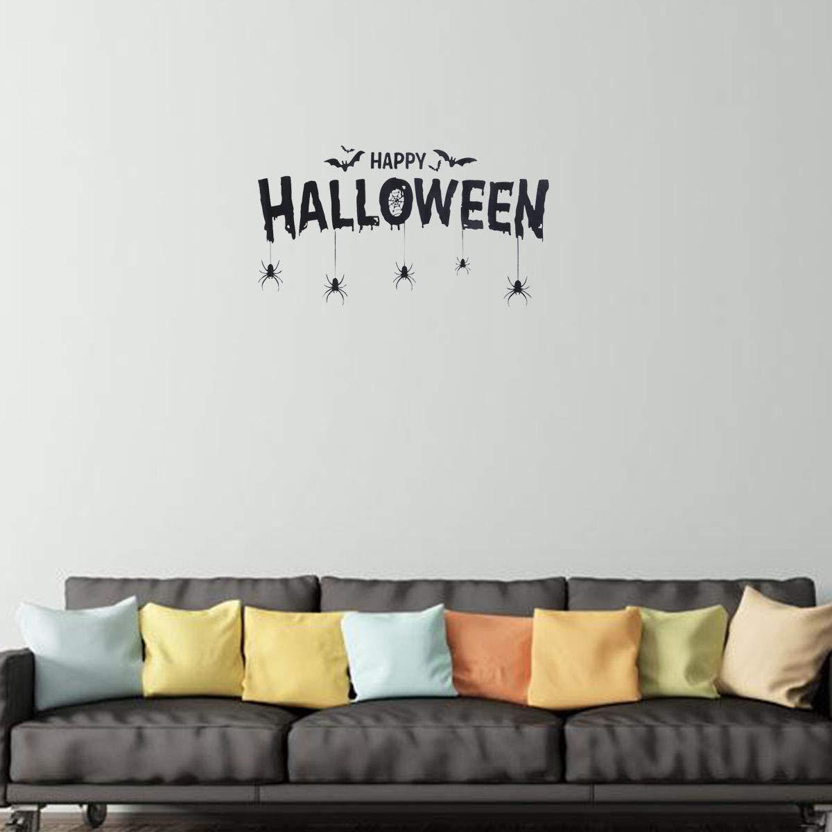 BESTOYARD Happy Halloween Letters Stickers Wall Window Stickers Party Decoration Supplies Supermarket Bar