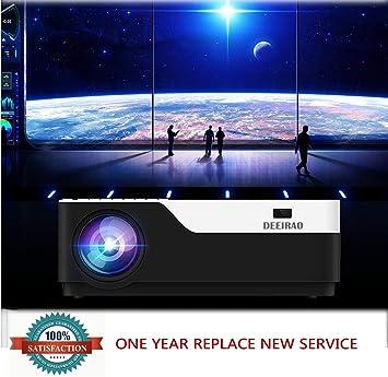 Deeirao 1080P Full HD Proyector de Cine en casa LCD Proyector de ...