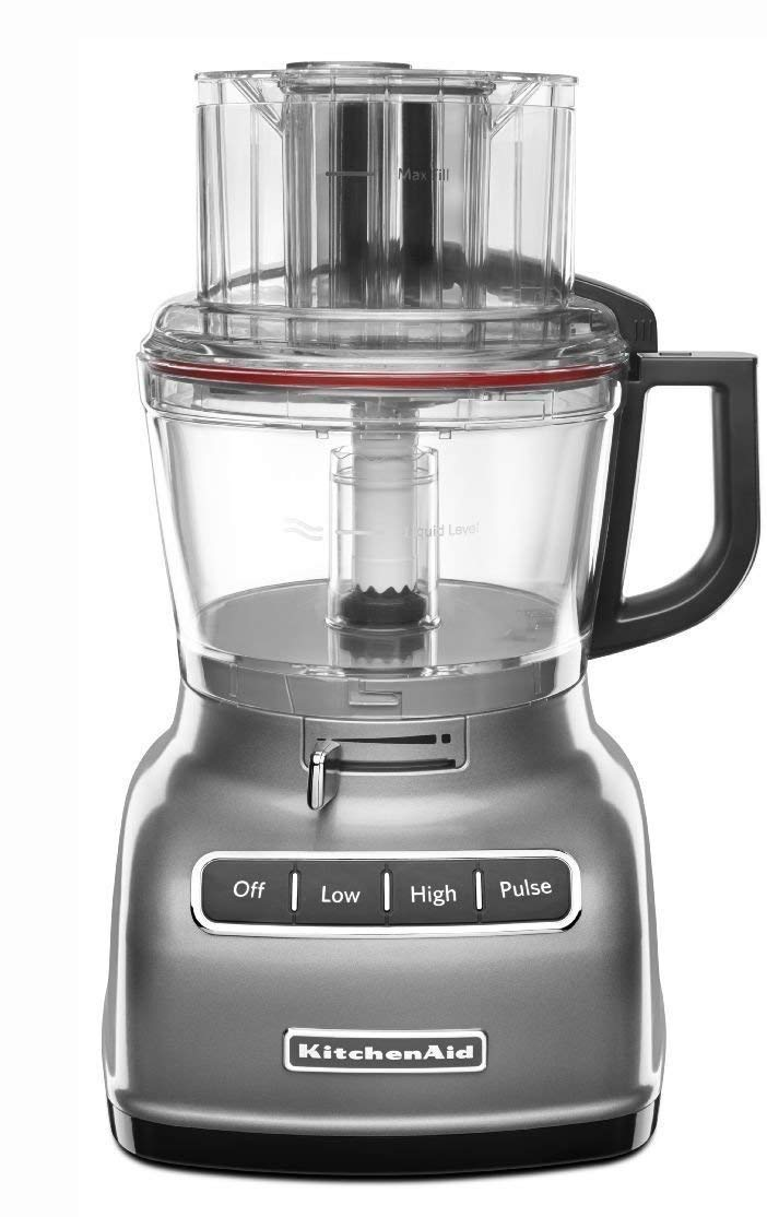 KitchenAid RKFP0930CU 9-Cup Food Processor with Exact Slice System (Renewed) SILVER