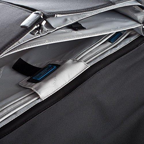 Cartella porta computer Piquadro PQ7 nera con porta documenti estraibile CA1425PQ/N