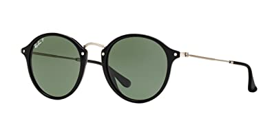 a928b1b19fb Ray-Ban Round Sunglasses (RB2447) Black Green Acetate - Polarized - 49mm