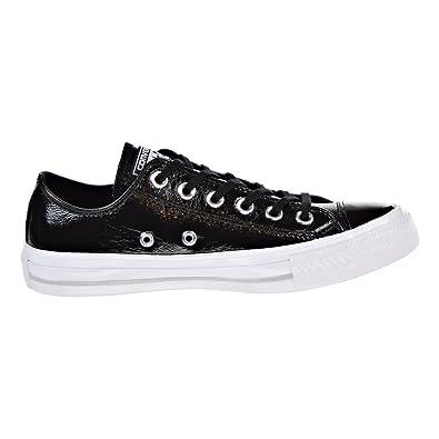 9b51d194e168 Converse Women s Chuck Taylor Ox Patent Casual Sneakers (6 B US) Black Black