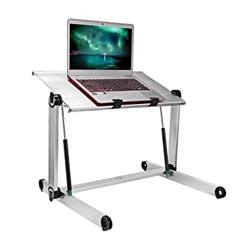 office bed room portable standing desk laptop adjustable office stand foldable lap tablet table office amazoncom