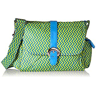 Kalencom Messenger Buckle Diaper Bag, Wiggly Stripes Beach