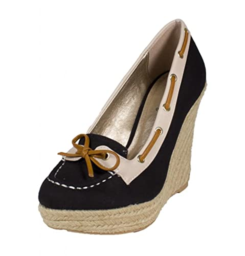 a717d6530ed Qupid Women s Resort-15 Cute Round Toe Platform Espadrille Wedge Sandal  with Upper Leather and