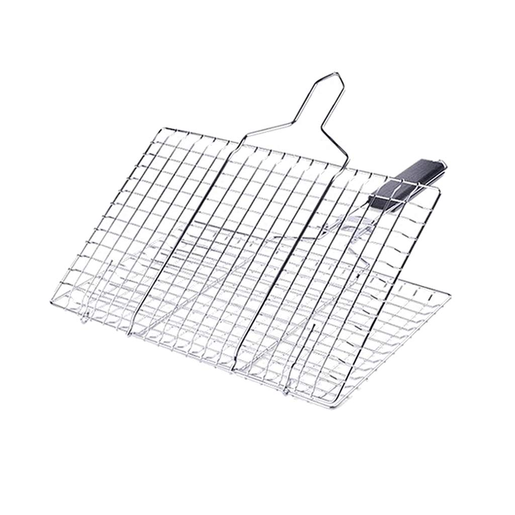 MagiDeal Barbecue Metal Mesh Grilling Basket Rack for Fish Vegetables at Party Indoor and Outdoor Cooking non-brand