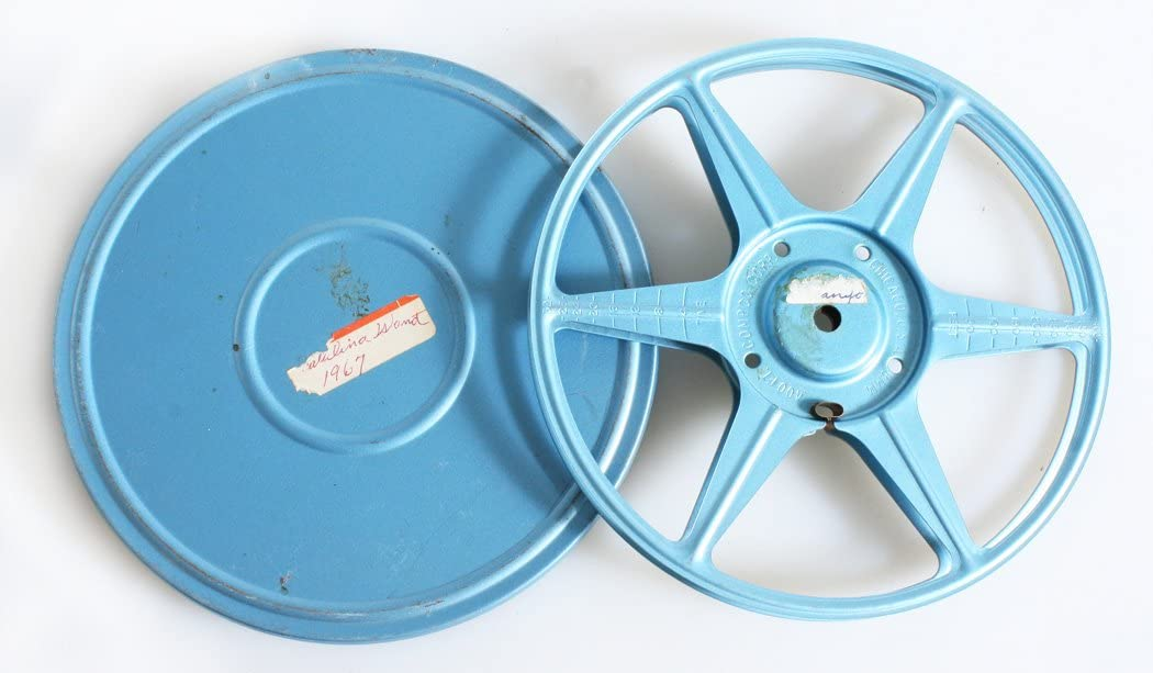 VINTAGE 8MM 400FT MOVIE REEL AND CAN
