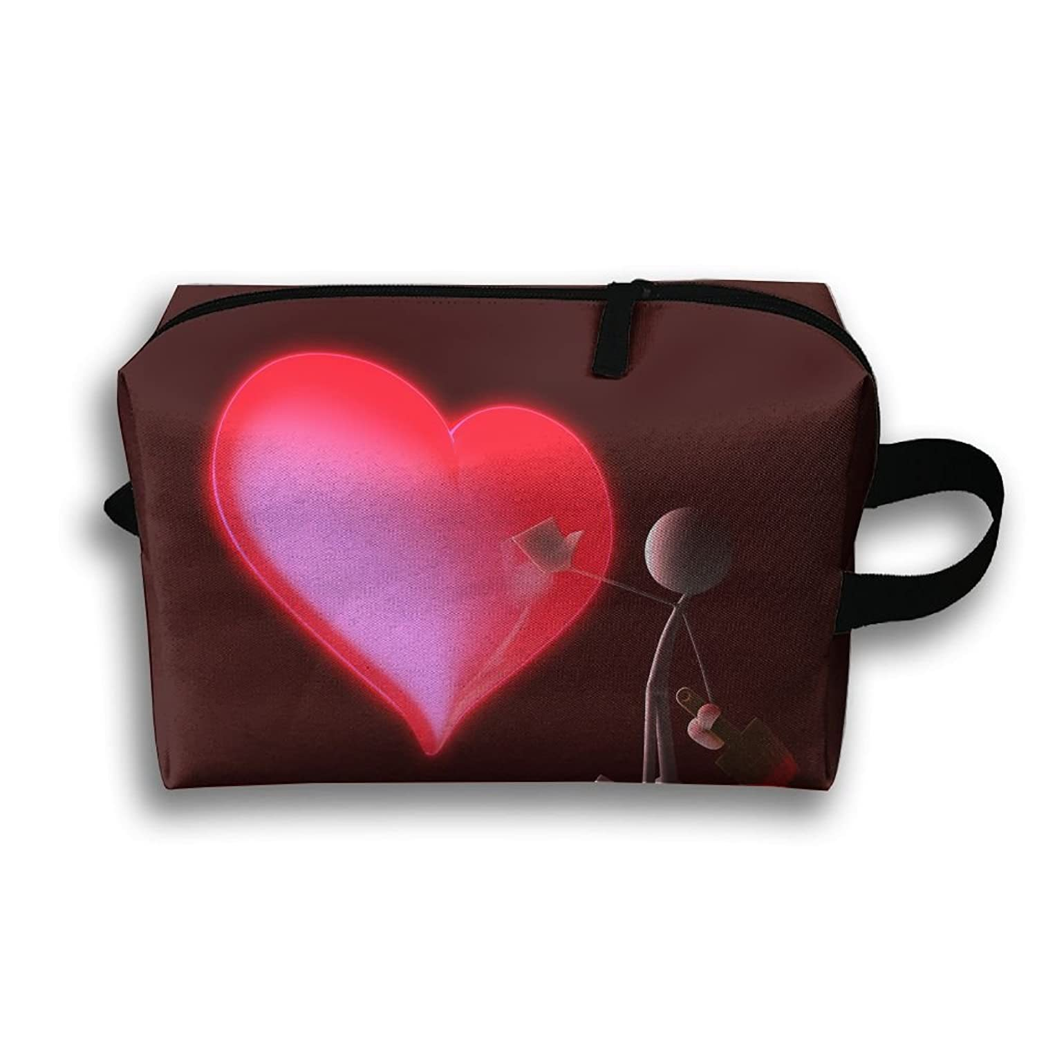 Storage Bag Travel Pouch Touch Pain Heart Purse Organizer Power Bank Data Wire Cosmetic Stationery Holder