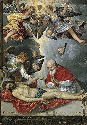 Oil painting ` Parrasio Michele Pope Pius V worshipping the body of Christ 157275`で印刷ポリエステルキャンバス、12x 17インチ/ 30x 44cm、最高の保育園アートワークとホーム装飾とギフトは、このVividアート装飾キャンバスプリントの商品画像