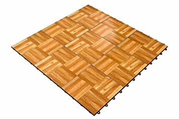 Snaplock 3 X Portable Dance Floor In Oak Excellent For Practicing Tap