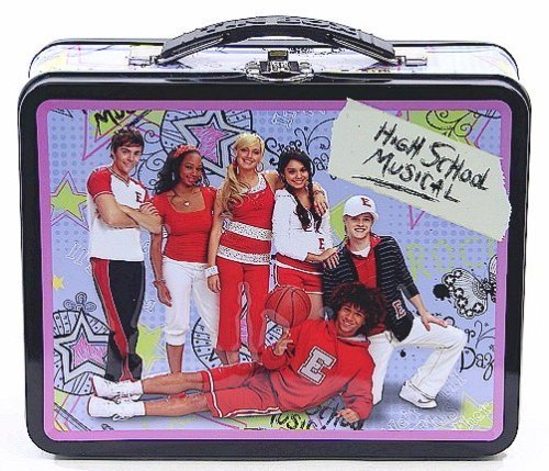 High School Musical Lunch Box - High School Musical Purple and Black Tin Lunch Box