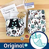 bumGenius Original 5.0 Pocket Cloth Diaper - Doodles Collection (PAWsome)