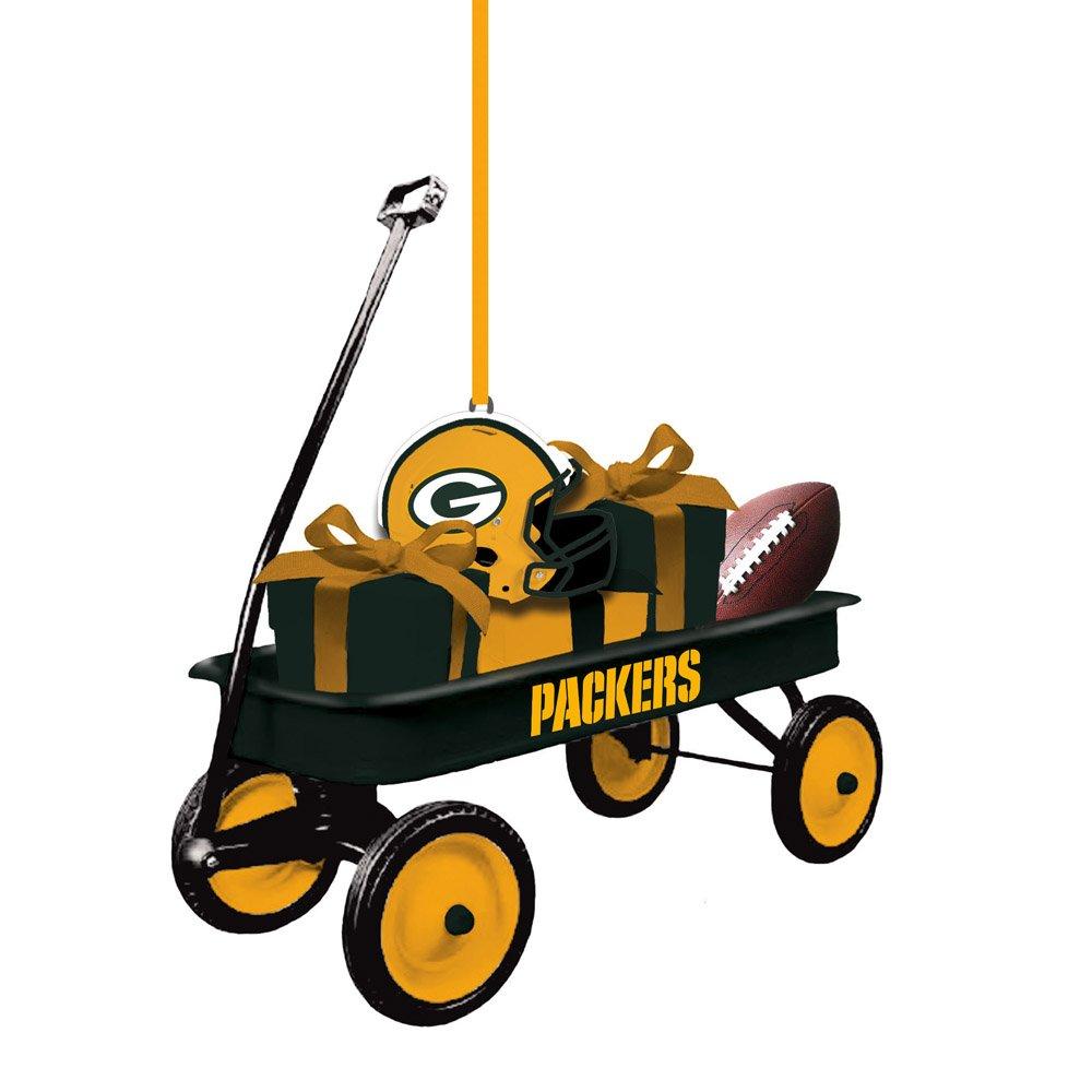 Team Sports America 3OT3811WGN Green Bay Packers Team Wagon Ornament