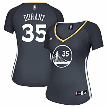 buy online 11b18 f2ed3 adidas Kevin Durant Golden State Warriors NBA Women's Grey Official  Alternate Replica Jersey