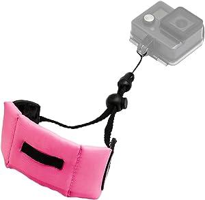 Kolasels Waterproof-Non-Slip Camera Float Strap with Hand Grip Lanyard, Wristband for Underwater GoPro,Waterproof Camera, Keys,Sunglass,etc (Pink)
