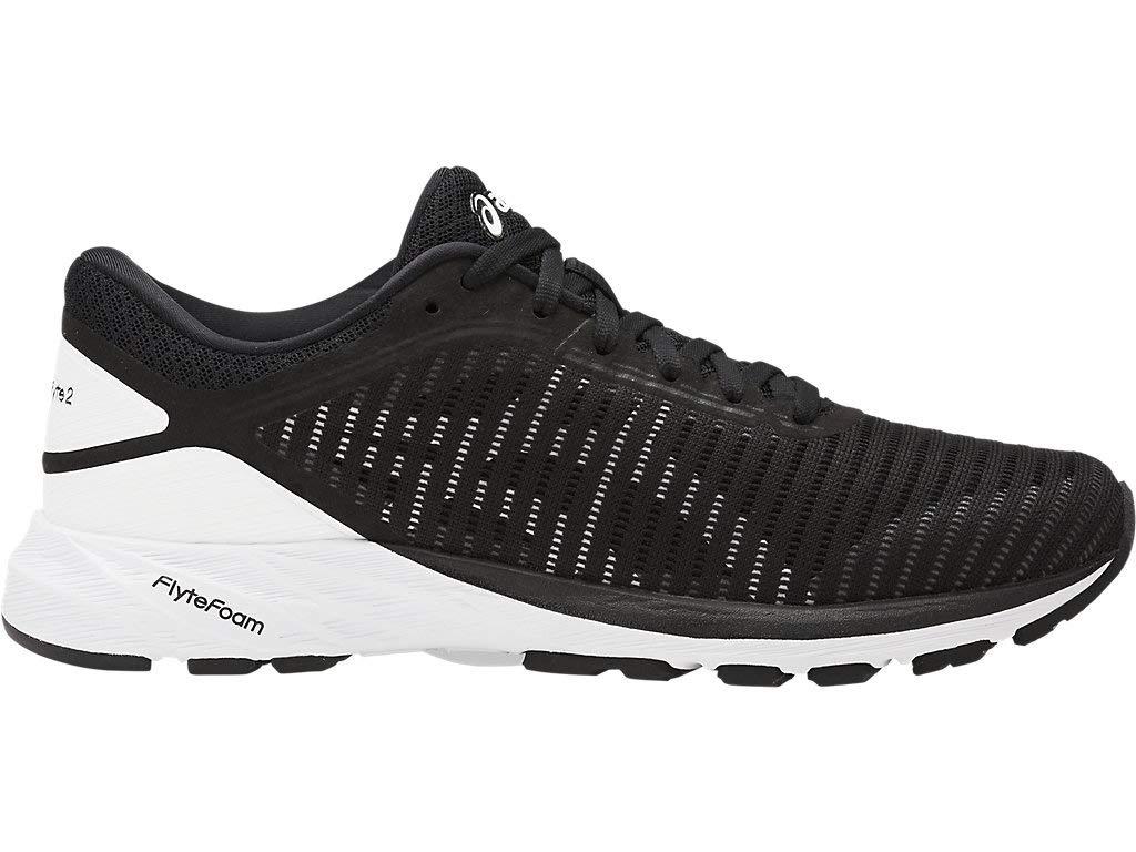 ASICS Women's Dynaflyte 2 Running Shoes, 6M, Black/White/Carbon