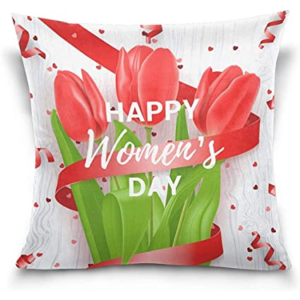 Amazon.com  Happy Womens Day March 8 Floral Flowers Decorative ... 164d27b706