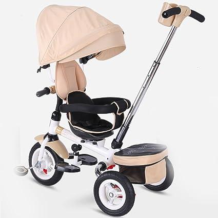 QQB &Carro Plegable Triciclo para niños Carrito para bebés Asiento rotativo 1-3-5