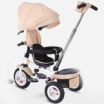 ZGP &Cochecito de bebé Triciclo para niños Carrito para bebés Asiento rotativo 1-3-