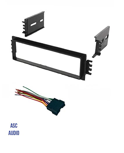 amazon com asc car stereo radio dash install kit and wire harness rh amazon com