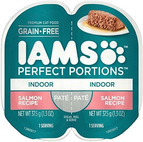 IAMS Perfect Portions Indoor Grain Free Wet Cat Food, Pate (24 Twin Packs)