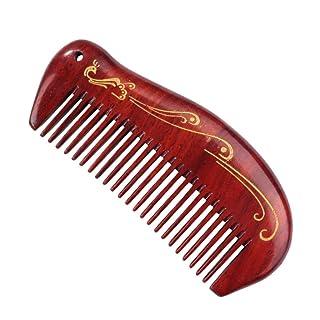 Shunfa Sandalwood Comb Sandalwood Ebony Comb Carved Gold Sandalwood Comb ZYY