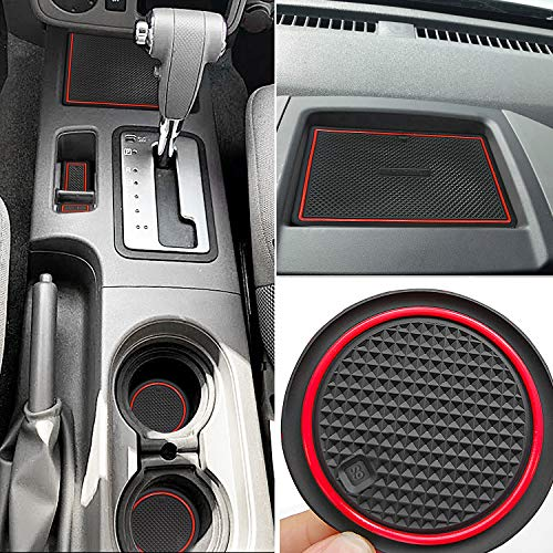 Auovo Anti Dust Mats for Nissan Frontier Crew Cab 2005-2019 Custom Fit Door Pocket Liners Cup Holder Pads Console Mats Accessories(24pcs/Set) - Interior Pro Liner