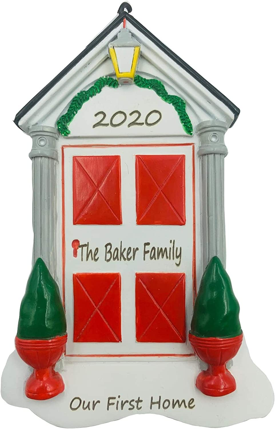 Personalized New First Door Home Apartment Christmas Ornament 2020