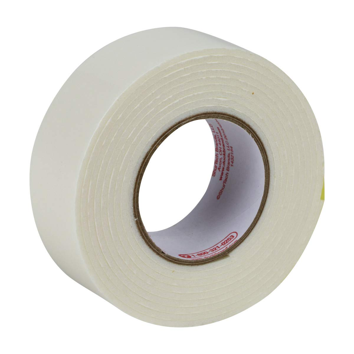 394666 Double-Sided Duck Brand Permanent Foam Mounting Tape Single Roll White 0.75-Inch x 15 Feet