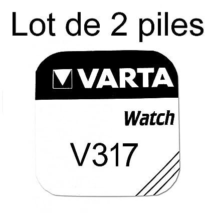 ddc39284a Varta-Pila de reloj, 1,55 V 317 SR62SW-Juego de 2 pilas, Varta 317 ...