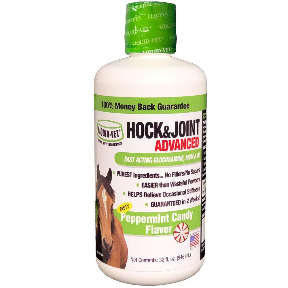 Liquid-Vet by COOL PET Holistics Equine Hip & Joint Advanced Formula, Peppermint Flavor, 32 oz